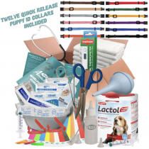 ABNOBAS FULL Whelping Kit Beaphar Lactol Puppy Dog Milk Feed Bottle 12 ID COLLARS (225)
