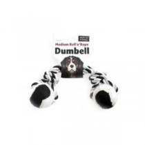 Ruff 'N' Tumble Tennis Ball & Rope Dumbell