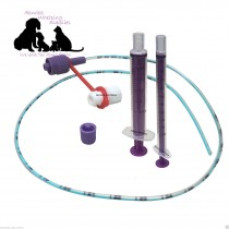 NEW LONGLIFE Tube Feeding Kit - 5 French Tube, 1 x 1ml & 1 x 2.5ml & Syringe Cap