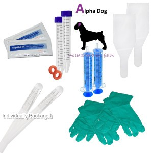 Premium ArtificiaI Insemination tubes – 2 Complete Breedings with Centrifuge Tubes & Bands